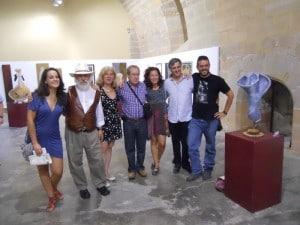 Artistas con el alcalde de Albalate
