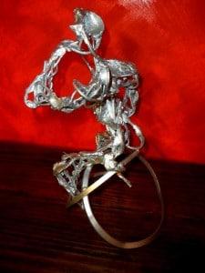 'El Librepensador' interprestado por Boni Guarjol en esta escultura con la que nos obsequió.