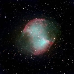 Nacimiento de una enana blanca (punto luminoso del centro) en la nebulosa planetaria Dumbbell. / Telescopio Joan Oro - Observatori Astronomic del Montsec