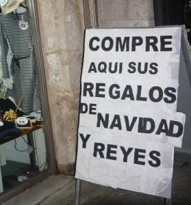 Foto: L.Pérez Campaña navideña en un establecimiento comercial