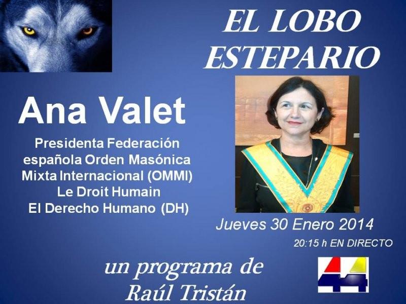 Ana Valet, masona