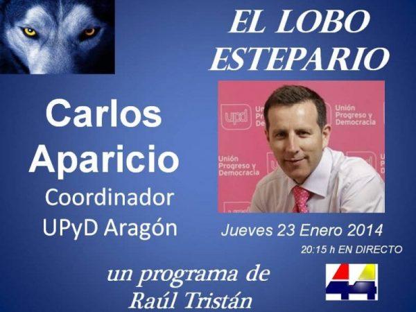 Carlos Aparicio, UPyD Aragón, en El Lobo Estepario