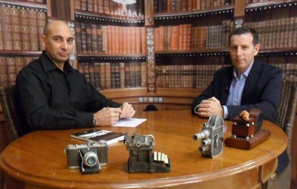 El Lobo Estepario. Raúl Tristán (izda.) entrevista a Carlos Aparicio (dcha.), Coordinador en Aragón