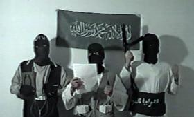 Imágen del vídeo grabado por los terroristas islamistas del 11-M antes de suicidarse en el piso de Leganés