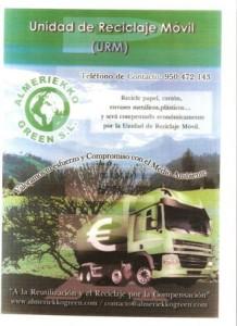Almeriekko green URM Unidad Reciclaje Móvil