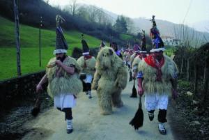 Carnavales en Navarra. Ituren y Zubieta. Zanpantzar