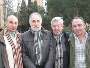 Los autores de  El Pentáculo francés. De izda.a dcha.: Raúl Tristán, Luis Bazán, Javier Aguirre y José Ángel Monteagudo.