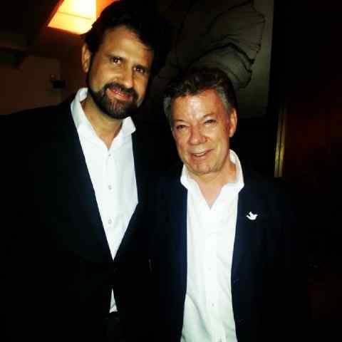 Antonio Sola (izda.) y Juan Manuel Santos (dcha.)