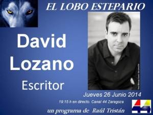 David Lozano,  escritor, en 'El Lobo Estepario'