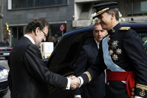 Felipe VI y Rajoy