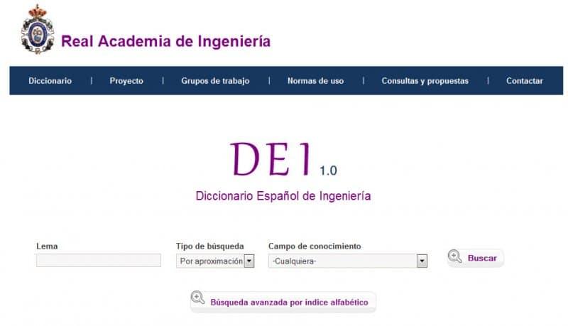 Se ha creado un Diccionario Español de Ingeniería