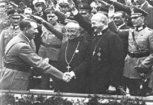 hitler y obispos papa iglesia