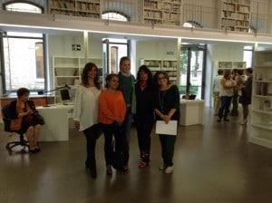 Con la directora y bibliotecaria de la Dirección de Familia y Mujer de la Generalitat Valenciana