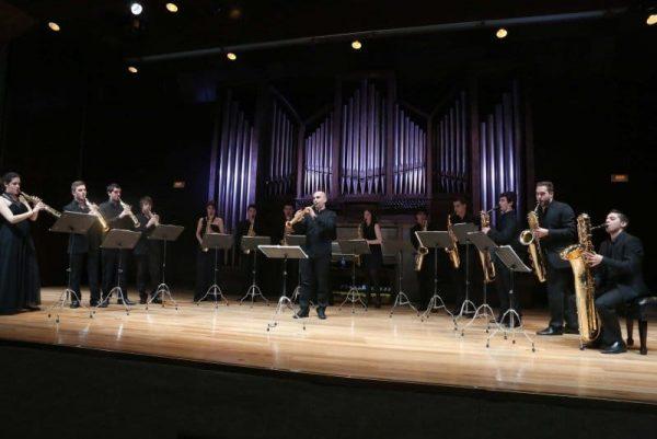 Los saxofones del CSMA en el Teatro de la Estación