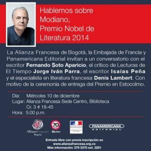 Actividades culturales con el escritor colombiano