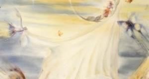 Acuarela de Carmen Berges. 'Vistiendo la Luna'.
