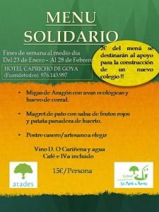 Menú Solidario Fuendetodos