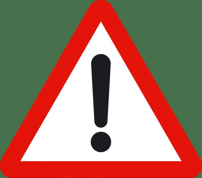 señal peligro indefinido
