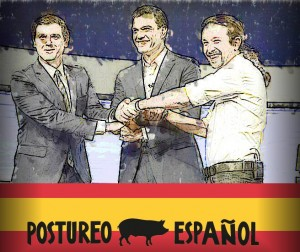 La política del postureo político español