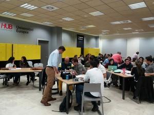 Taller con emprendedores en HUB Emprende