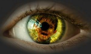 mirada ojo niño sufrir