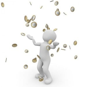 paga monedas lluvia dinero
