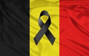 bandera belgica lazo negro
