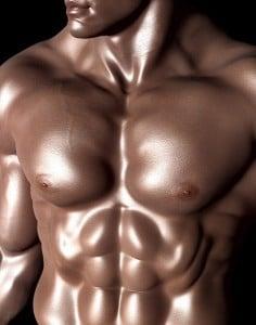 hombre músculos abdominales