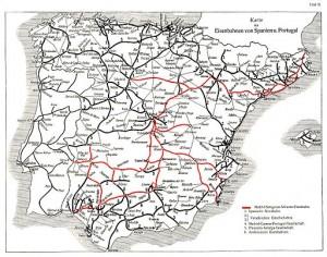 mapa ferrocarril españa 1921