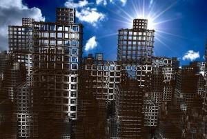 progreso destruido edificios ruinas