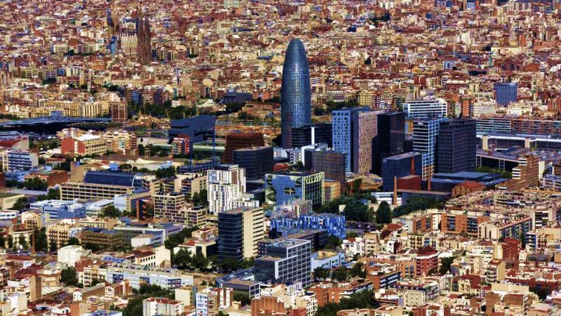 Imagen aérea de parte del distrito 22@
