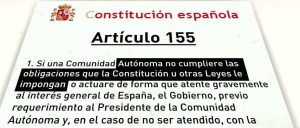 Problemática implantación del artículo155