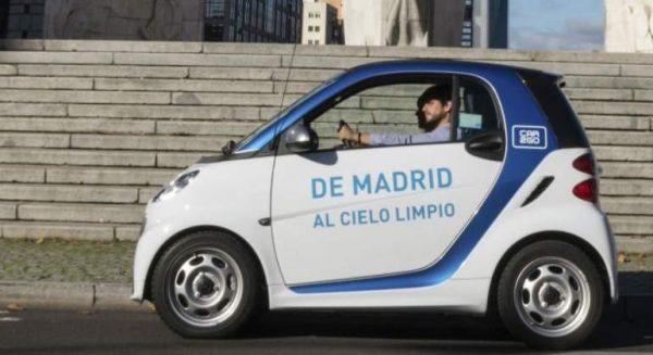 Los usuarios de car2go en Madrid han reducido más de  1.600 toneladas de emisiones de CO2 en 2017