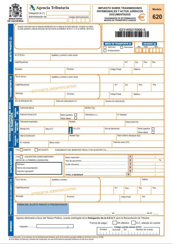 Modelo 620 - Impuesto de Transmisiones Patrimoniales