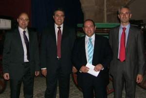 El Secretario Gral del pCUA, el Presidente del PLIE junto a otros miembros de la Ejecutiva